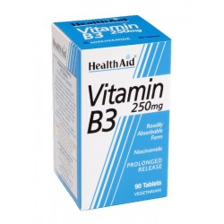Vitamin B3 (Niacin) 250mg tablets 90's