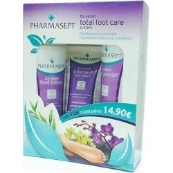 PHARMASEPT TOL VELVET TOTAL FOOT CARE SYSTEM 3ΤΕΜ. 250ML