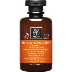 Apivita Shine & Revitalizing Shampoo με Πορτοκάλι & Μέλι 250ml