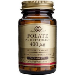 Solgar Folate as Metafolin 400mcg, 50 ταμπλέτες
