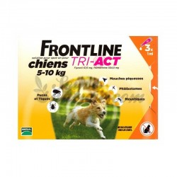 FRONTLINE TRI-ACT DOGS 5-10 kg SPOT-ON 3 pipettes