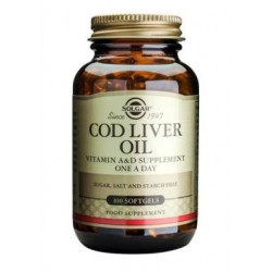 SOLGAR COD LIVER OIL SOFTGELS 100TAB