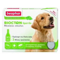 Beaphar Biocton Spot On Medium 15-30kg 3 τμχ