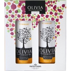 Olivia GIFT SET FUSION SHOWER GEL KUMQUA 300ml & BODY LOTION KUMQUAT 300ml