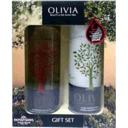 Papoutsanis Olivia Gift Set Shampoo Colored Hair 300ml + Conditioner 300ml