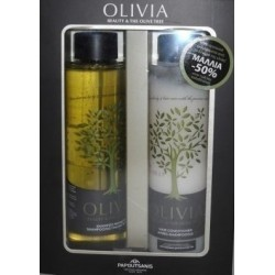Papoutsanis Olivia Shampoo Dry Hair 300ml & Conditioner 300 ml