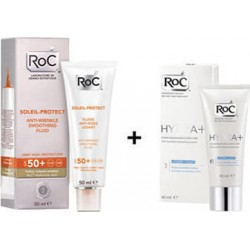 Roc Promo Soleil-Protect High Tolerance Comfort Fluid SPF50 50ml & Hydra+ Light Cream 40ml