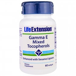Life Extension Gamma E Tocopherol 60 μαλακές κάψουλες