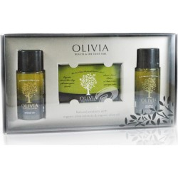Olivia Olivia Gift Set Shampoo 60ml, Conditioner ml , olive oil soap 125gr