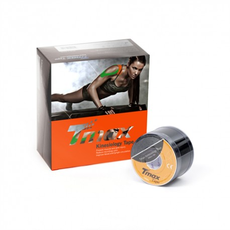 TMAX KINESIOLOGY TAPE BLACK 5cmX5m