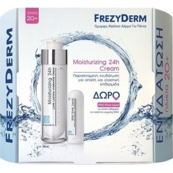 FREZYDERM Moisturizing 24h Cream 20+ (50ml) & Δώρο Mild Wash Liquid (80ml)