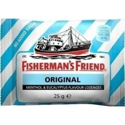 FISHERMAN'S FRIEND Καραμέλες Original Sugar Free (ΓΑΛΑΖΙΟ) 25gr