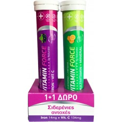 Naturalia Vitamin Force + Multivitamin Force 2x 20 αναβράζοντα δισκία