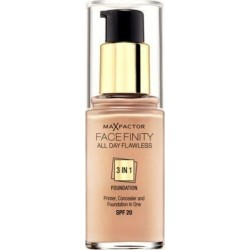 Max Factor Facefinity All Day Flawless 3 In 1 Foundation SPF20 45 Warm Almond 30ml