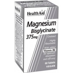Health Aid Magnesium Bisglycinate Συμπλήρωμα Διατροφής 375mg 60tabs