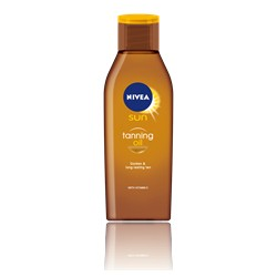 NIVEA SUN Deep Tanning Oil, NO SPF, 200ml